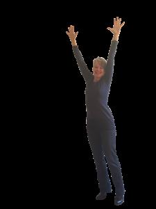 vor Freude springen