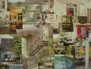 Dream home vision board